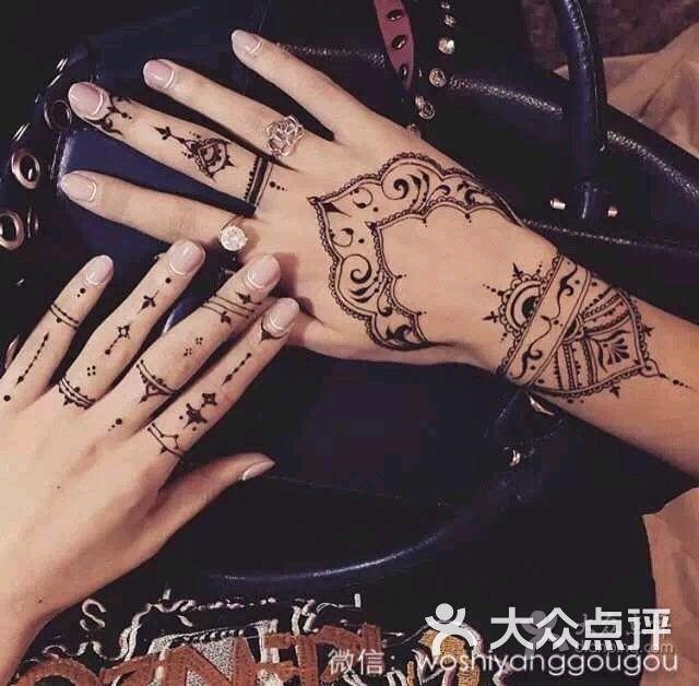 印度海娜手绘纹身图片 - 第5张