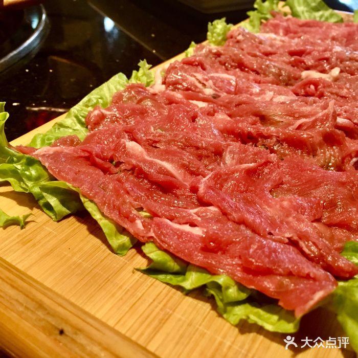味蜀吾老火锅(和平店)-手切鲜羊腿肉-菜-手切鲜羊腿肉