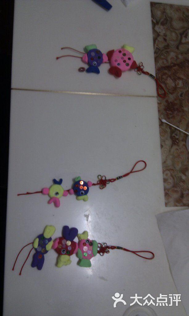 超轻粘土作品——年年有鱼挂饰(6岁)