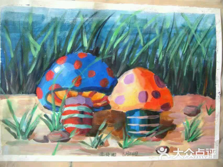 京华蓝天书画院-儿童水粉画作品-作品-儿童水粉画作品