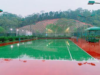 白水带网球场