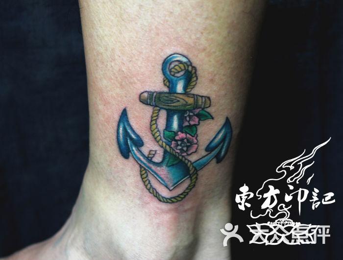 北京东方印记纹身 小腿船瞄纹身 北京最有名的纹身工作室图片图片