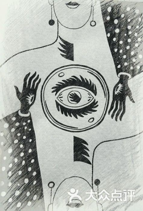 和平小镇主题桌游坊素描手绘预言家图片 - 第1张