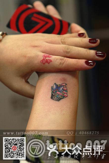 007 Tattoo Studio(上海007纹身)-蛋糕--丝带纹身图片-上海丽人-大众点评网