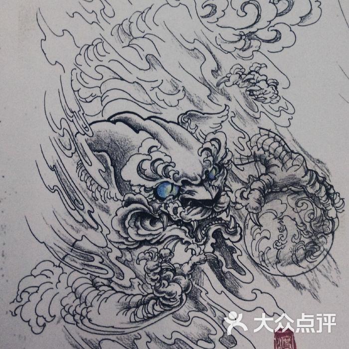 刺尊纹身金龙鱼纹身手稿图片-北京纹身-大众点评网