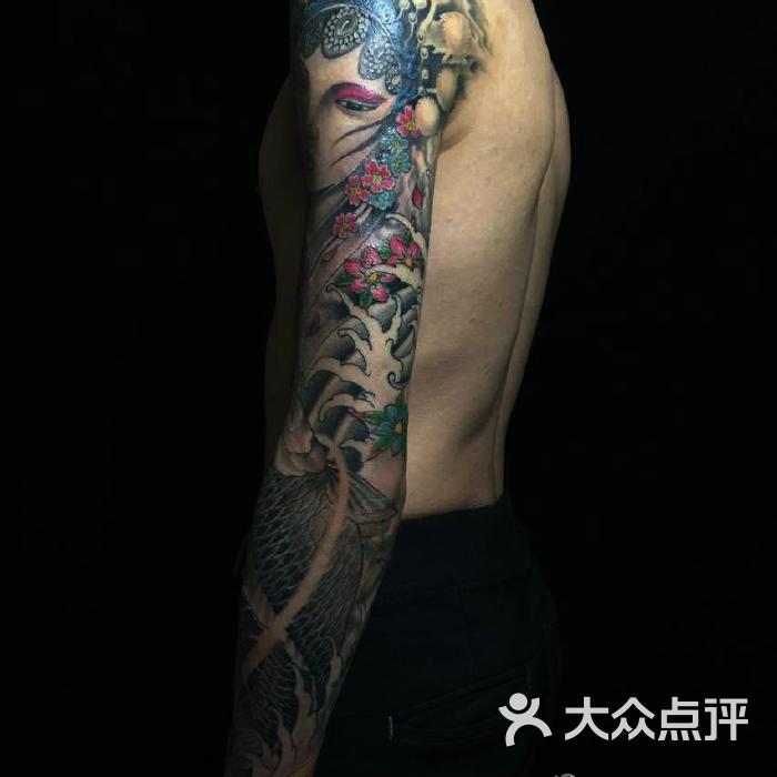 wuwotattoo花旦 鲤鱼 花臂图片-北京纹身-大众点评网图片