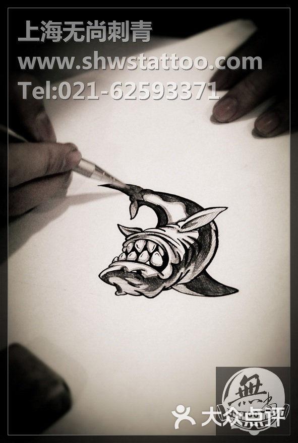 无尚刺青纹身工作室字母W纹身图案设计 无尚刺青工作室图片 北京纹