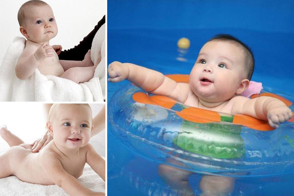 婴儿沐浴动态图图片