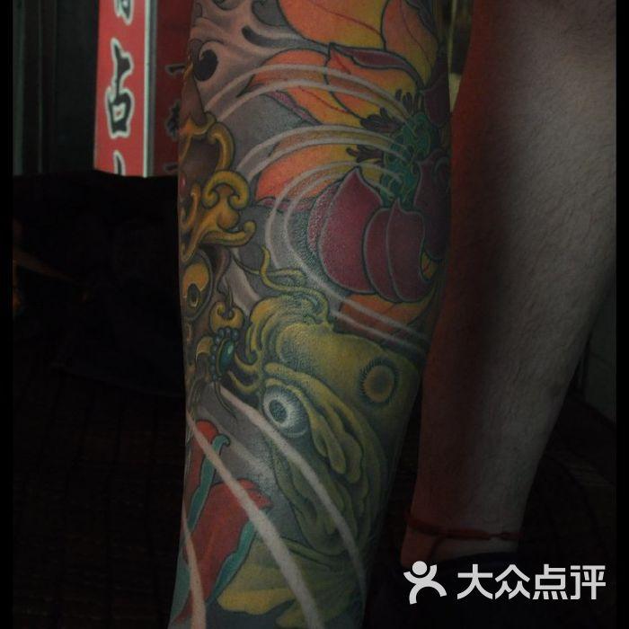 北京占山刺青 包腿纹身嘎巴拉纹身