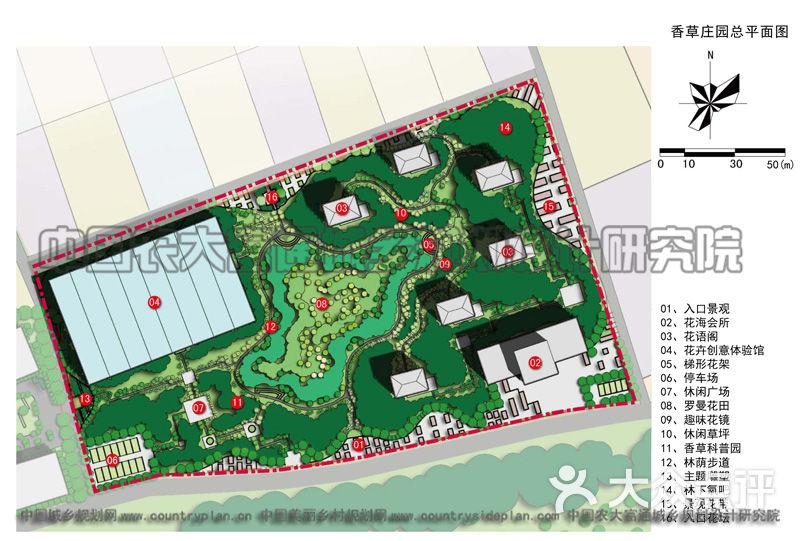 香草庄园规划总平面图