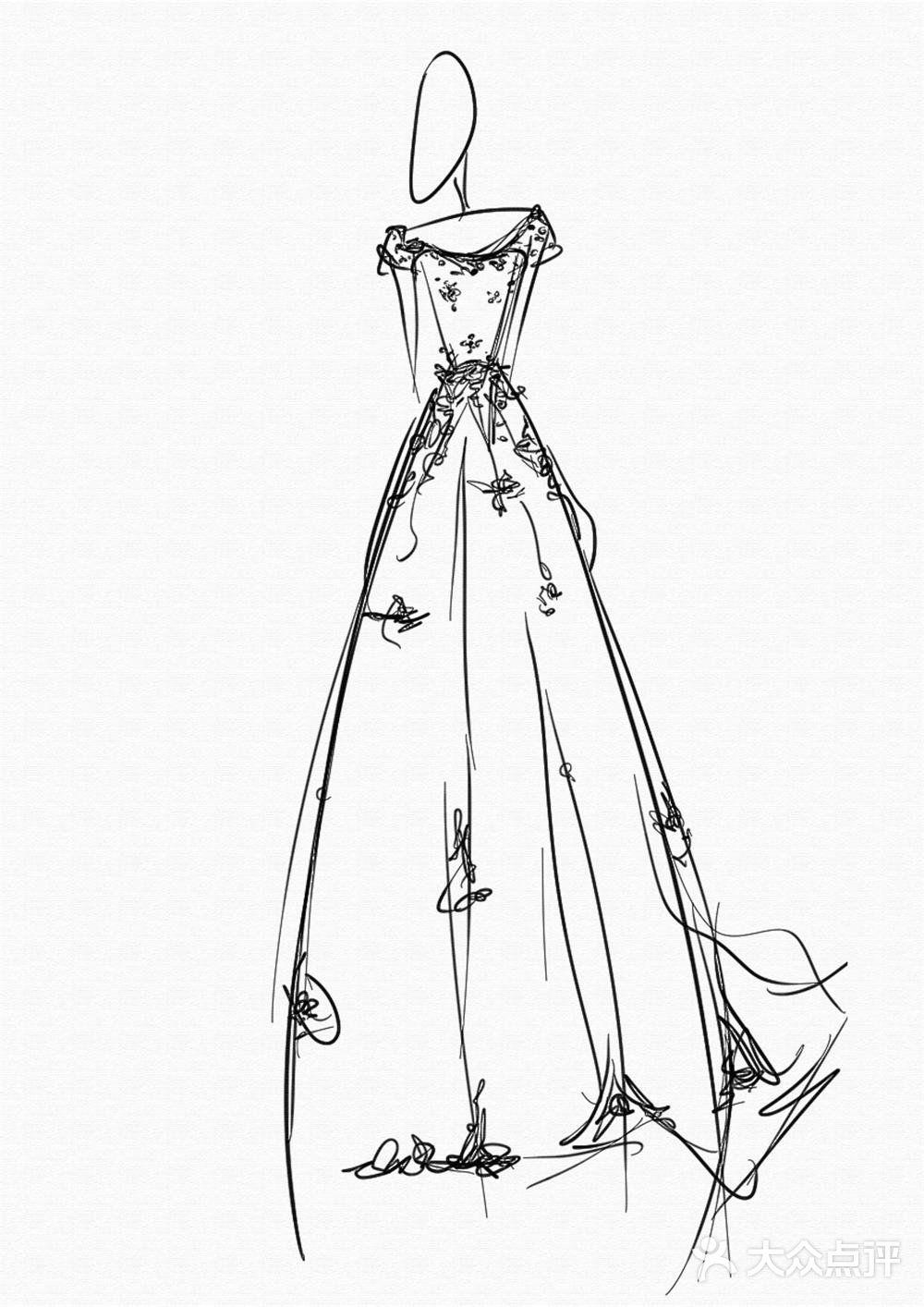 珍珠戒指手绘设计图展示