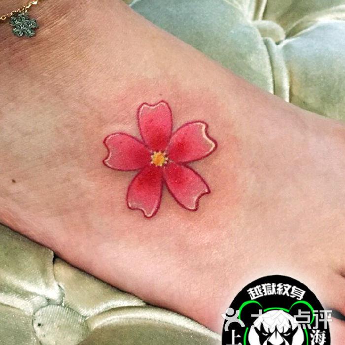 越狱刺青脚背樱花纹身图片-北京纹身-大众点评网