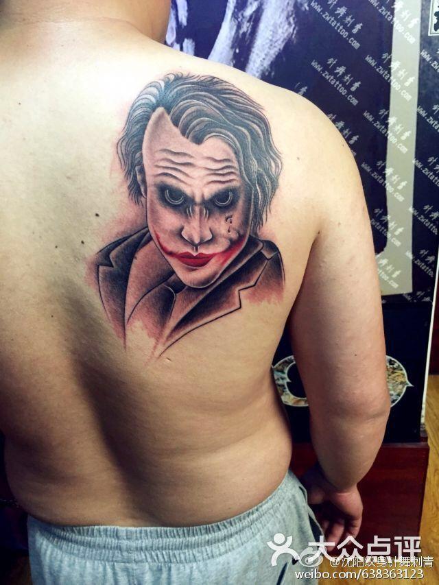 针舞刺青艺术纹身工作室-黑暗骑士小丑作品图片-沈阳