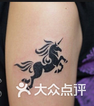 独角马纹身图片大全