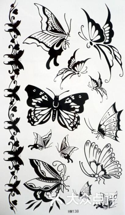 上海火凤凰纹身工作室-蝴蝶纹身图案大全图片-上海
