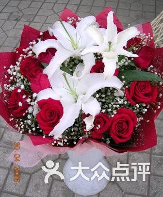 浪漫花屋 红玫瑰加百合130元图片 无锡购物