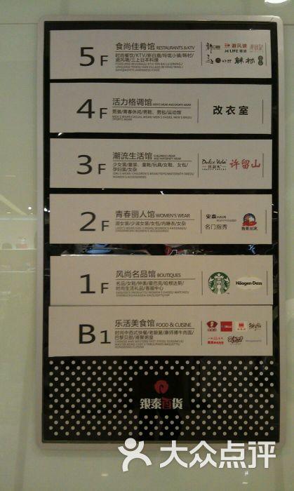 银泰百货(杭州文化广场店)楼层导引标示牌图片 - 第285张图片