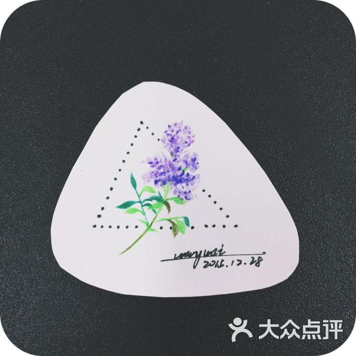 紫色清新小花纹身手稿——北京最好的纹身店