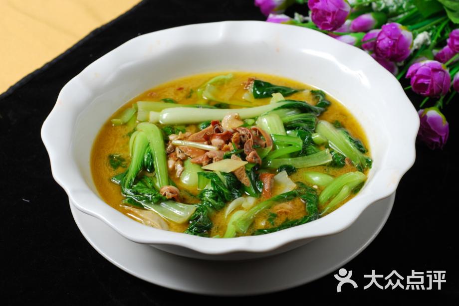 小上海传统上海菜-河蚌烩青菜图片-上海美食-大众