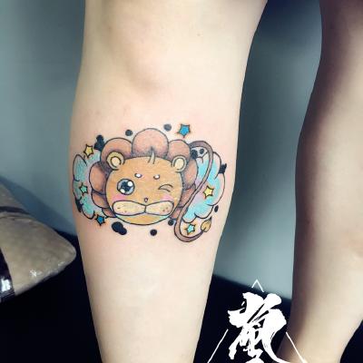 2017最新狮子纹身图案,狮子纹身图片大全-大众点评网
