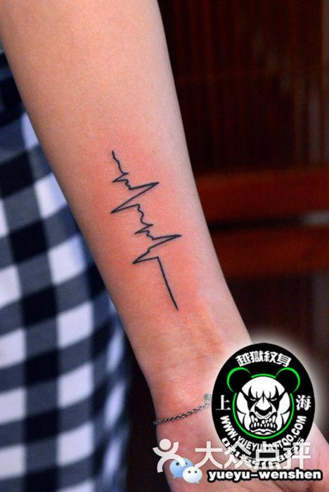 越域刺青(中山公园总店)手臂心电图纹身图片 - 第6342张
