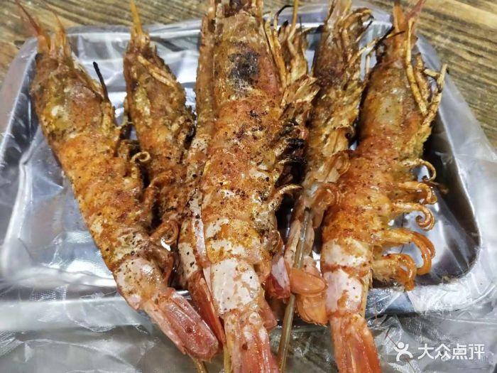 红太狼海鲜大咖烧烤大排档-烤大虾图片-青岛美食-大众