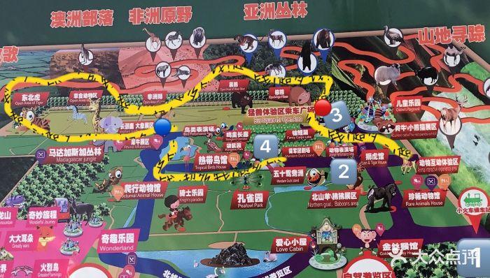 北京野生动物园导游图图片