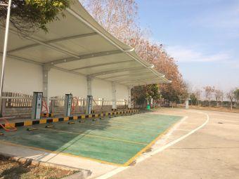 泗阳成子湖服务区停车场