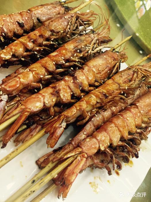老馋鬼海鲜特色餐厅-烤大虾-菜-烤大虾图片-青岛美食