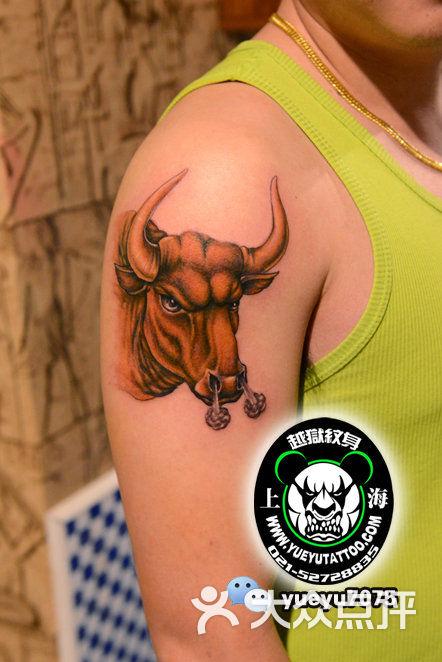 越狱刺青(中国纹身名店)手臂公牛纹身图片 - 第1744张图片