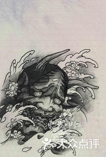 浪花纹身手稿