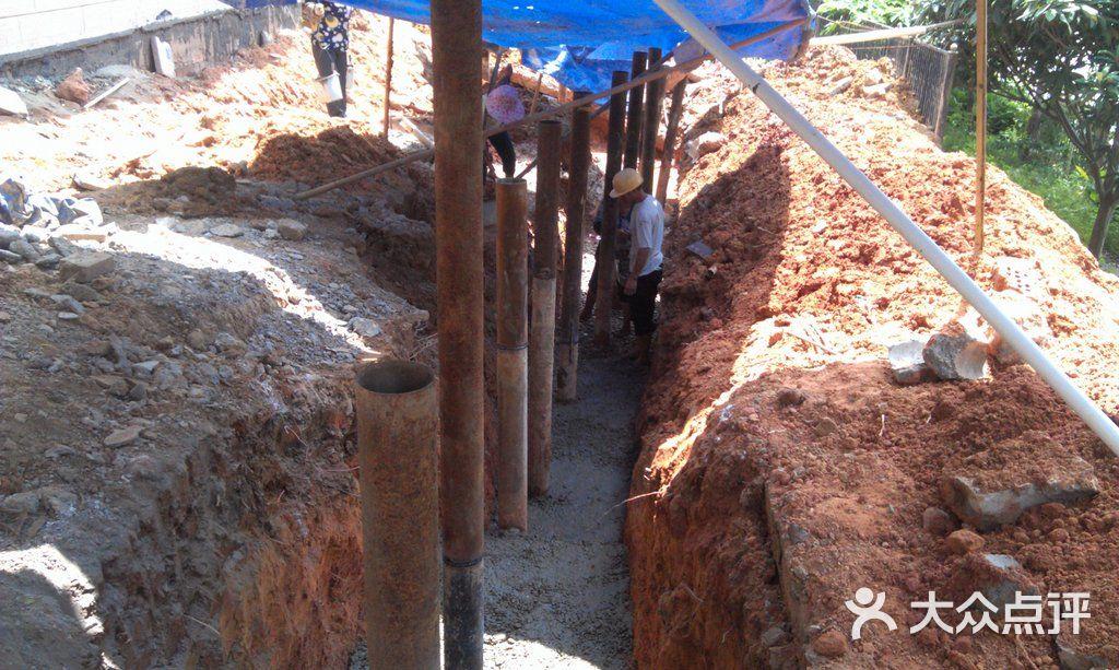 别墅围墙基础施工