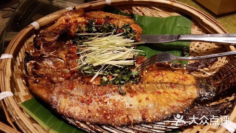 马蜂香茅草烤罗非鱼傣味不见了图片