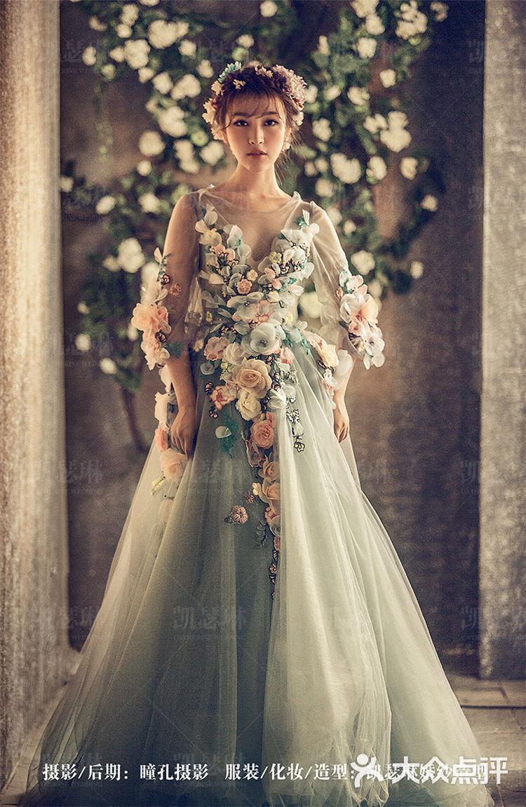 花仙子丨鲜花新娘发型图片