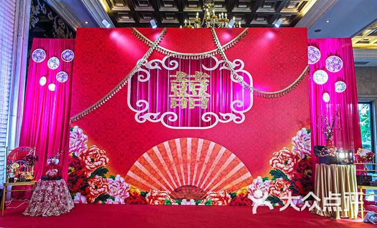 红色中式婚礼-缘喜婚礼-佛山结婚-大众点评网