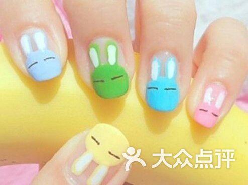 纤颜美甲彩妆会所可爱的小兔子图片-北京美甲-大众