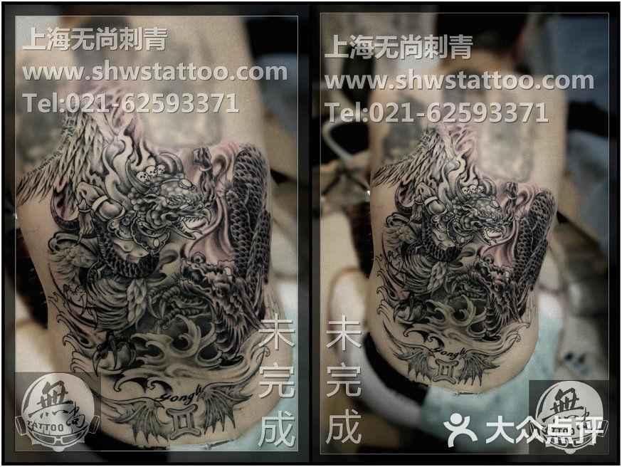 传统大背:大鹏金翅纹身图案,分次完成中