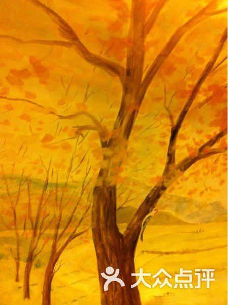 手绘银杏树好美