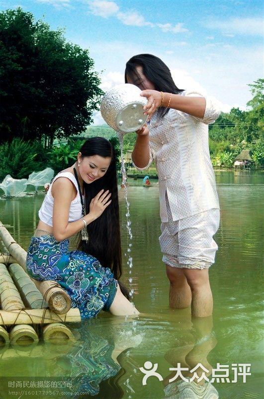 西双版纳大全v大全-傣族美女美女图片-景洪市-大众点评漫画民族长发色图片