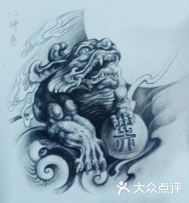 貔貅纹身手稿