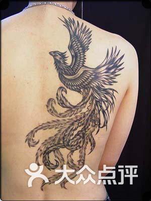上海火凤凰纹身工作室脚部玫瑰花图片-北京纹身-大众