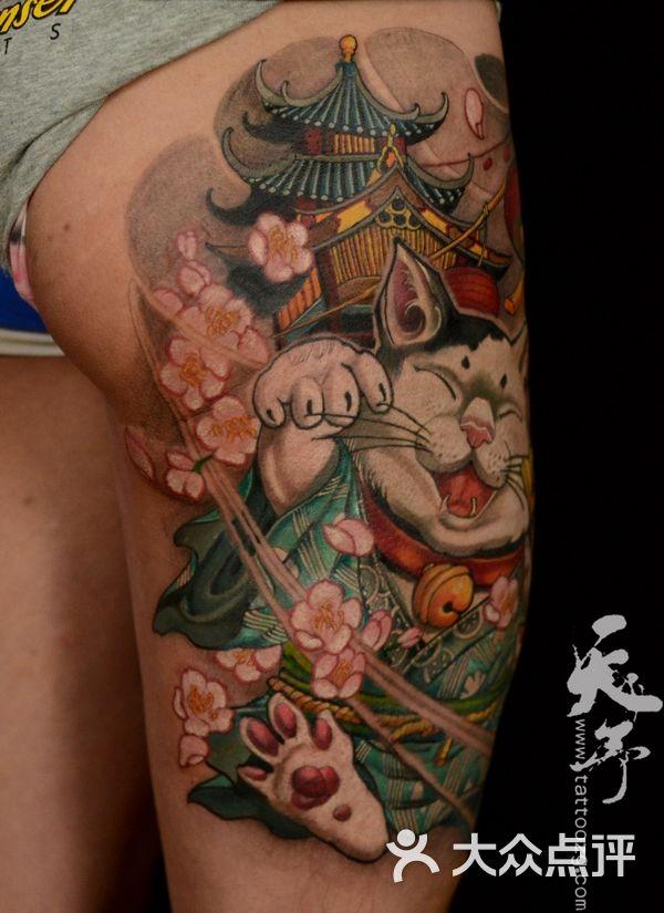 招财猫传统纹身