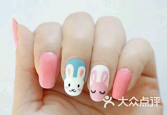 儿童指甲图案小兔