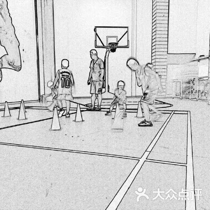 打篮球手绘写实