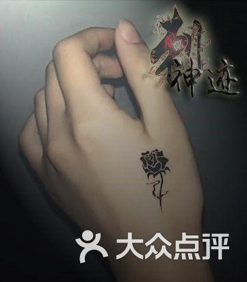 哈尔滨纹身哈尔滨纹身神迹刺青店内作品手上玫瑰纹身