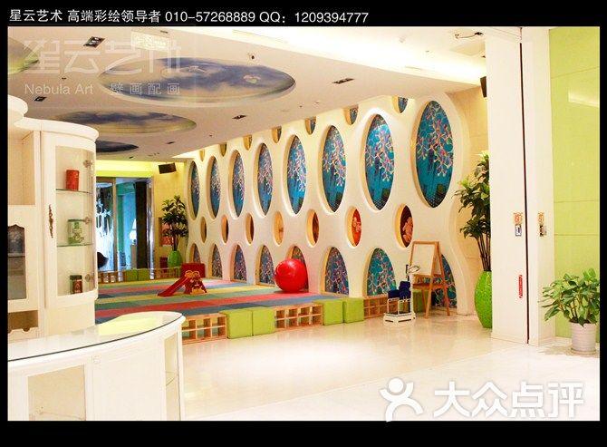 天空壁画 天顶壁画 天顶墙绘 北京手绘墙