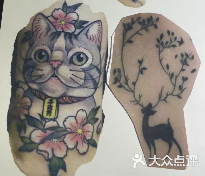 这次是个小帅哥帮我们纹,闺蜜纹一只梅花鹿,我纹一只猫,纹身会上瘾