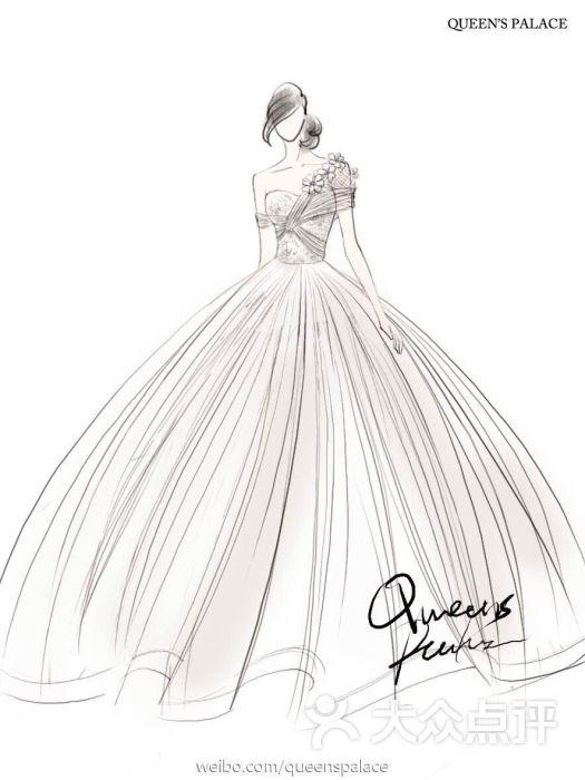 婚纱店手绘图片