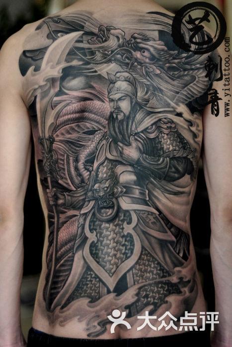 满背关公纹身 艺刺青