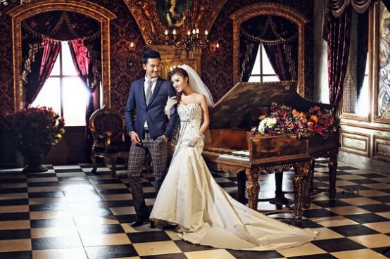复古宫廷婚纱照